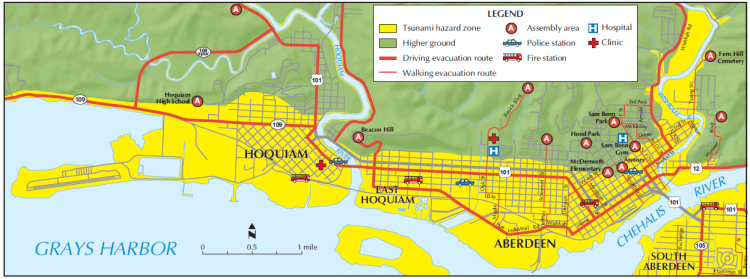 Brochure - Hoquiam-Aberdeen Tsunami Evacuation Map