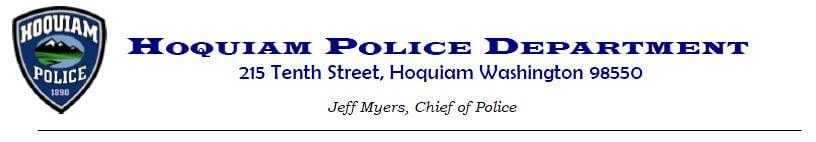 Hoquiam Police Department Press Release